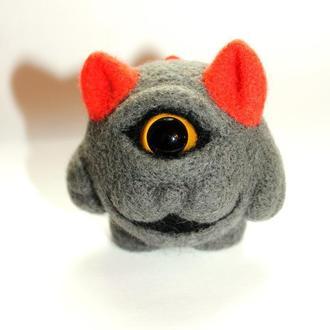 Валяная игрушка Красноухий монстр
