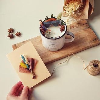 Соєва свічка в керамічній чашці для мужчини