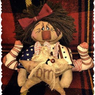 Интерьерная кукла в стиле примитив