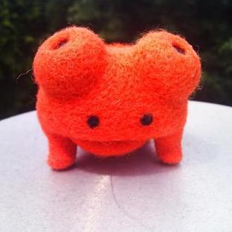 Валяная игрушка Тропическая лягушка