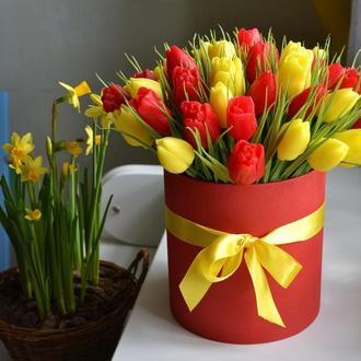 Букет тюльпанов из мыла ручной работы