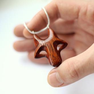 Кулон волк. Кельтские украшения животных. Резьба по дереву. Оберег викингов. Мужские украшения