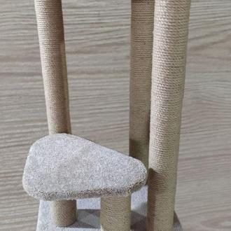 Высокая стойка - когтеточка с лежанкой