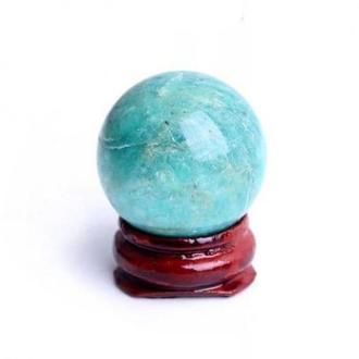 Натуральный шар из амазонита на подставке,диаметр 30 мм