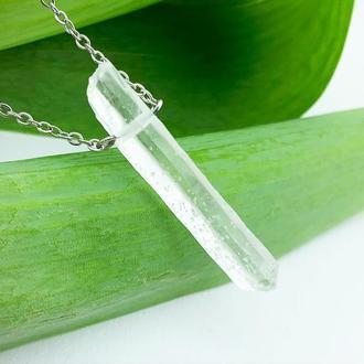 Подвеска кристалл горного хрусталя Кулон Подарок девушке маме жене (модель № 666) JK jewelry