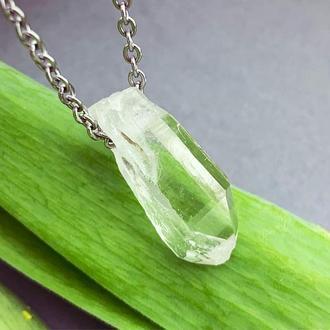 Подвеска кристалл горного хрусталя Кулон Подарок девушке маме жене (модель № 668) JK jewelry