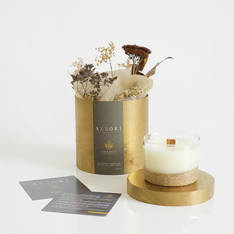 Натуральная ароматическая массажная крем свеча, органика, эко, соевая, веган