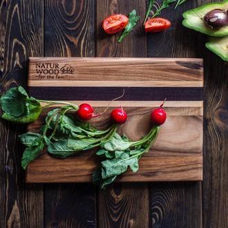 Маленькая деревянная доска NATURWOOD из ореха 30*20*1.5 см
