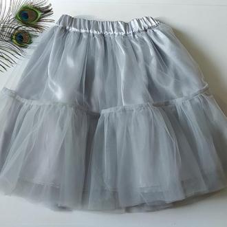 Двухярусная фатиновая юбка пачка для девочки