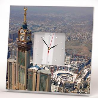 """Часы с изображением """"Мекка – священный мусульман. Хадж. Кааба"""""""