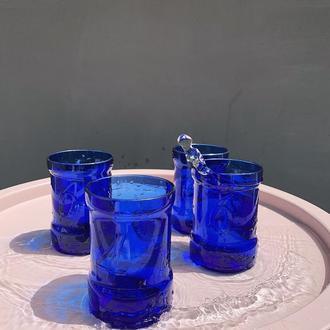Стакан с спасенного стекла Синяя