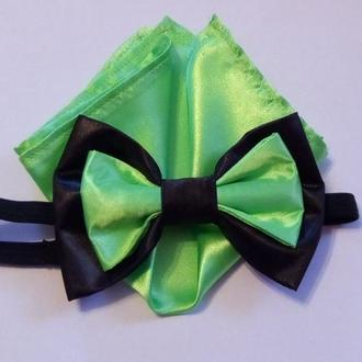 Набор галстук-бабочка с платочком