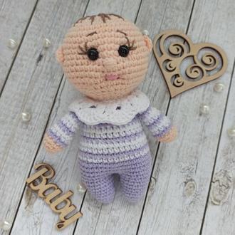 Пупсик, кукла, мягкие игрушки, кукла вязаная, кукла крючком