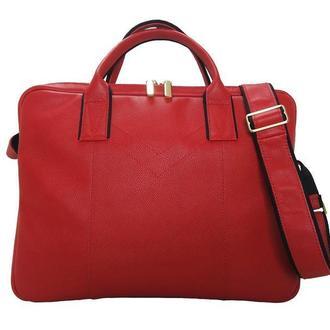 Женская деловая кожаная сумка 147