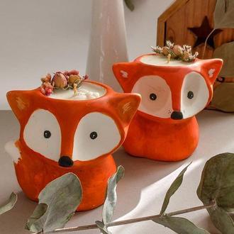 """Соевая свеча  из книги про Маленького Принца """"Happy Fox"""""""