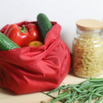 Многоразовый мешочек / сумка для продуктов красная