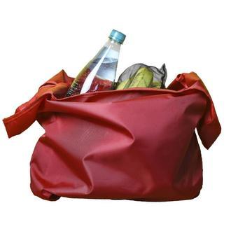 Многоразовая сумка шоппер / сумка для покупок / на пляж / на природу красная