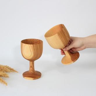 Бокали з дерева для вина