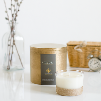 Натуральная ароматическая массажная крем свеча, эко соя и растительный воск, веган