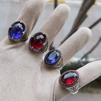 Редкий перстень из серебра от турецкого дизайнера ювелира с ярким большим камнем