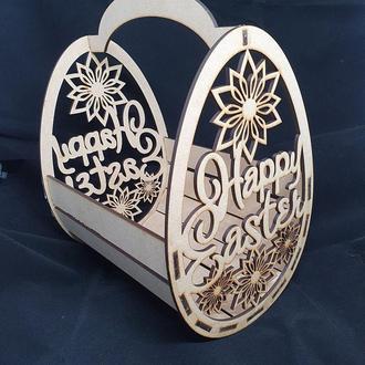 Корзинка для пасхи, пасхальная корзинка. Счастливой пасхи. Happy Easter