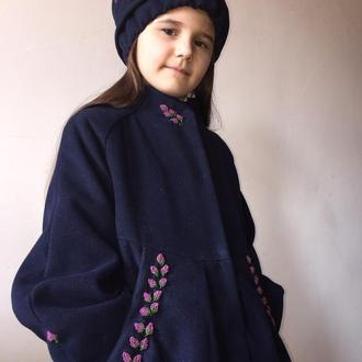 Комплект пальто та шапочка для дівчинки