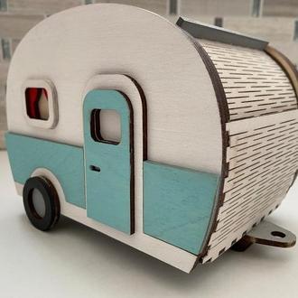 Хлебница ретро фургон дом на колесах. Хлебница в американском стиле. Для любителей путешествий.