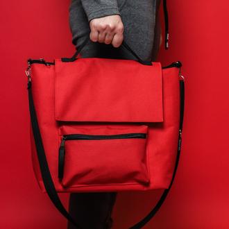 Термосумка, ланч бег, ланч бокс, термоланчбег, lunch bag Комфорт Плюс красный