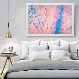 """Інтер'єрна картина рідким акрилом """"Рожева абстракція"""""""