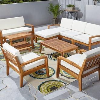 Комплект мебели на 9 секций с подушками