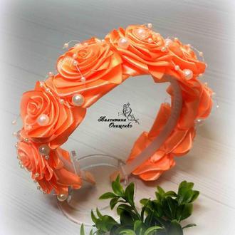 ободок  с розами  / обруч для девочки / детские обручи