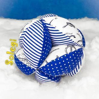 """Развивающий мяч ТАКАНЕ 🌞 для малыша 0+.Мяч МОНТЕССОРИ⛵ """"Морской УЗЕЛ"""". Подарок для ребенка"""