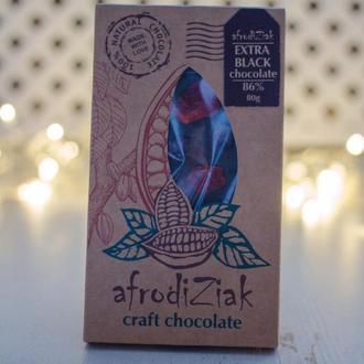 """Экстра черный шоколад 85% Afrodiziak """" Клюква / Кумкват """" ручной работы"""