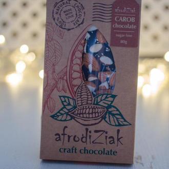 "Шоколад на кэробе Без сахара  Afrodiziak "" Миндаль "" крафтовый"