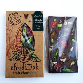 Темный натуральный шоколад 75%  Afrodiziak Цукаты
