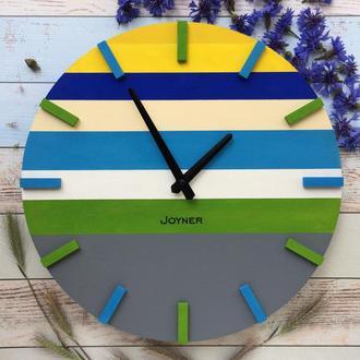 Деревянные часы Разноцветные