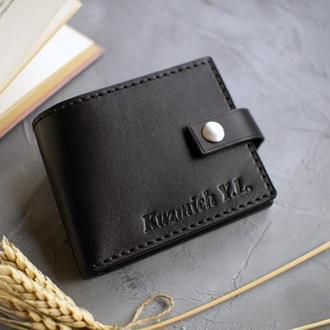 Мужской кожаный кошелёк с гравировкой (тиснением) ручной работы