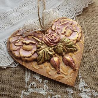 Підвіска серце Трояндовий сад