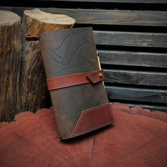 Именной кожаный блокнот, блокнот писателя