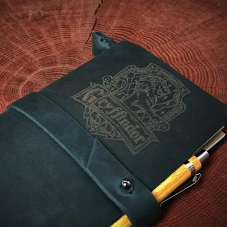 Кожаный блокнот Harry Potter, блокнот с эмблемой Griffindor