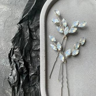 Свадебное украшение для волос, веточка в прическу, аксессуар в прическу,украшения для причесок