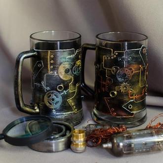 Пивные бокалы в стиле лофт ′ Mechanics of beer′