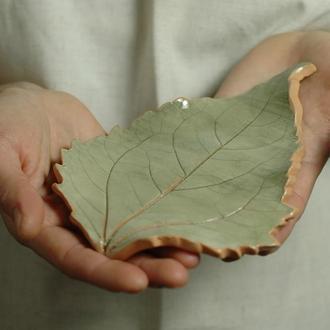 Тарелка керамическая Лист 2