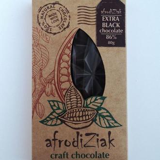 Экстра черный натуральный шоколад 85%  Afrodiziak