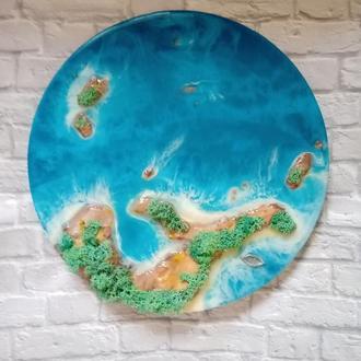3D картина Океан острова из эпоксидной смолы