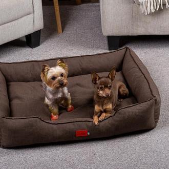 Лежак для собак и кошек Pets Lounge Classic M, коричневый
