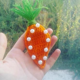 Брошь_овощ Морковка