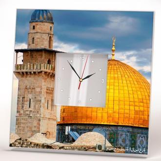 """Часы с изображением """"Святыня ислама Мечеть Аль-Акса"""""""
