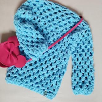 Детские свитера, вязаный крючком.