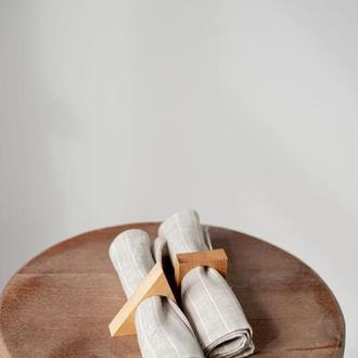 Льняе салфетки в полоску, текстиль для кухни, салфетки из льна, красивые салфетки,салфетки лен серые